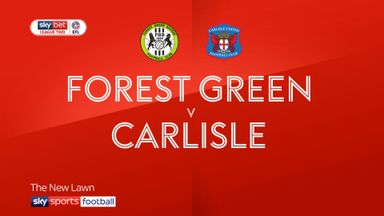 Forest Green 1-1 Carlisle