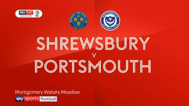 Shrewsbury 0-2 Portsmouth
