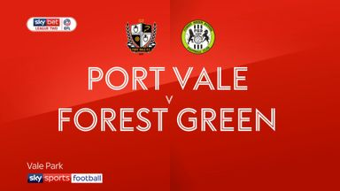 Port Vale 0-2 Forest Green