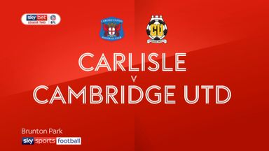 Carlisle 2-2 Cambridge