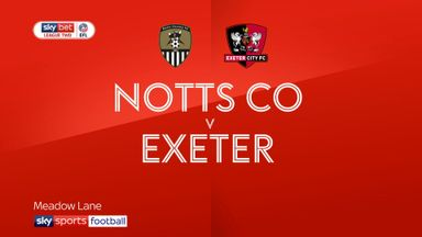 Notts County 0-1 Exeter
