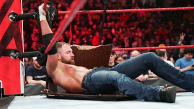 McIntyre puts Ambrose through table