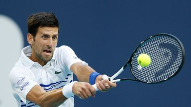 Djokovic battles back against Delbonis