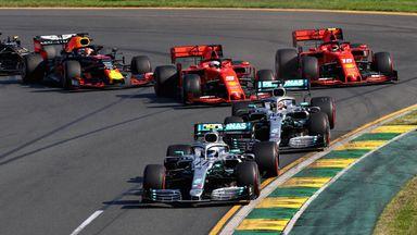 Bottas passes Hamilton