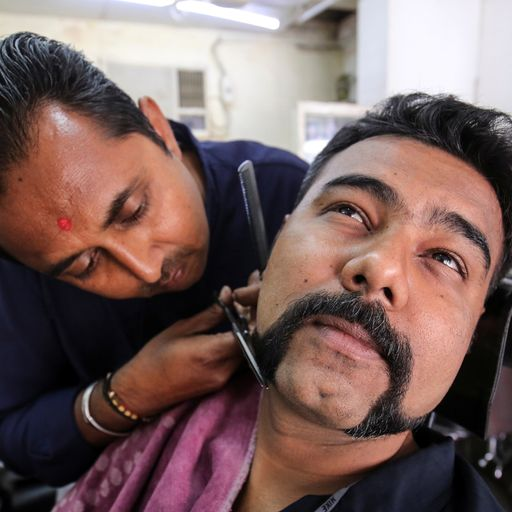 Released Indian pilot sparks 'gunslinger' moustache trend