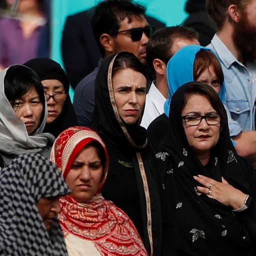 Jacinda Ardern leads two-minute silence for Christchurch shooting victims