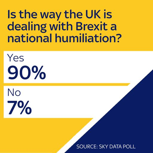 Brexit: 90% say handling of negotiations is 'national humiliation'