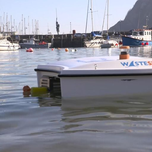 Drone 'shark' that eats plastic goes live in UK waters