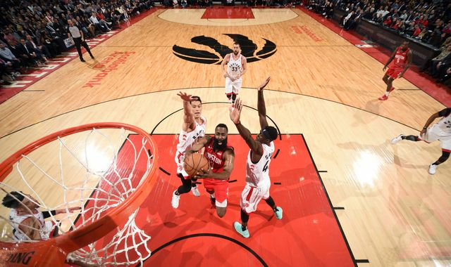 b4b245a75323 Stray FM - News - James Harden scores 19 fourth-quarter points to lead Houston  Rockets to road win over Toronto Raptors
