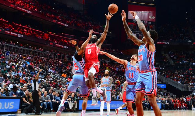 James Harden makes NBA history as Houston Rockets beat Atlanta Hawks for third straight win