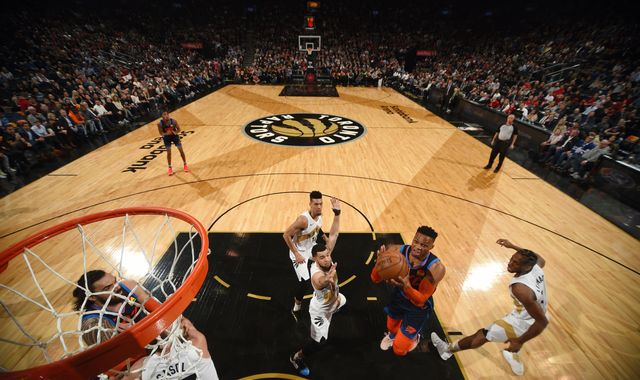 Russell Westbrook posts triple-double as Oklahoma City Thunder rally to beat Toronto Raptors