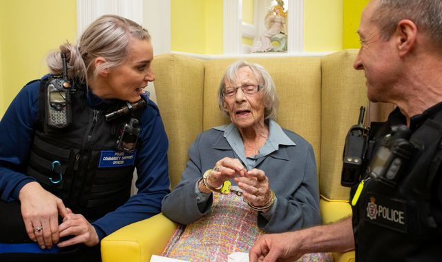 Woman, 104, arrested at care home by police to fulfil bucket list wish