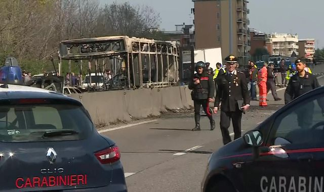 More than 50 children held hostage on bus in migrant death protest