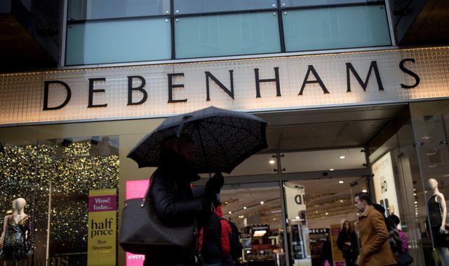 Debenhams on brink of securing £200m funding lifeline