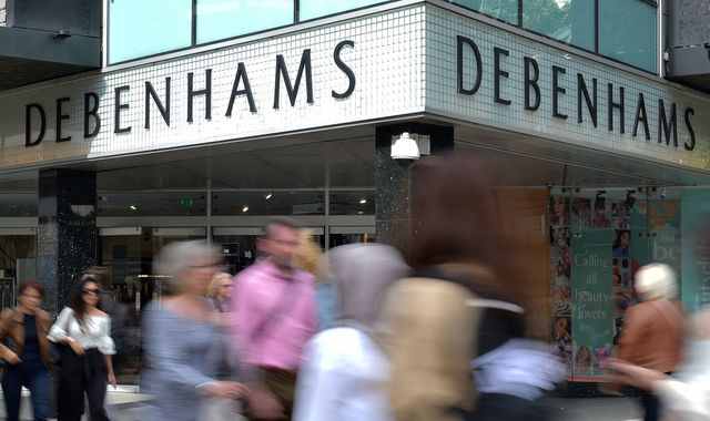 Debenhams shareholders, including Mike Ashley, warned they could be wiped out