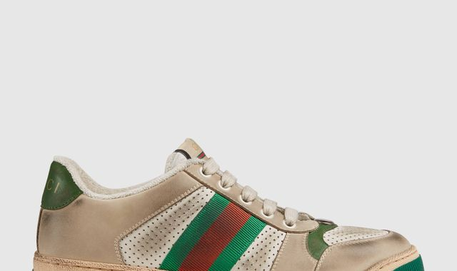 Gucci criticised for selling dirty trainers from £615