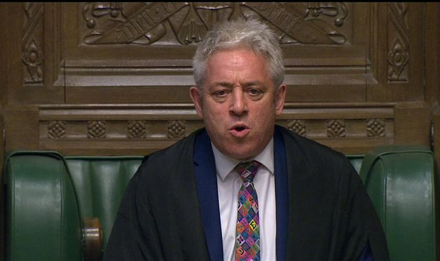 Brexit: John Bercow vows to stop PM from closing Commons to force no deal