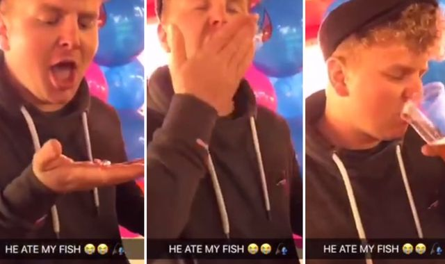 Man fined £385 after swallowing live goldfish in clip posted on Snapchat