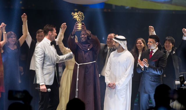 Global Teacher Prize: Man who gives away 80% of his salary wins $1m award
