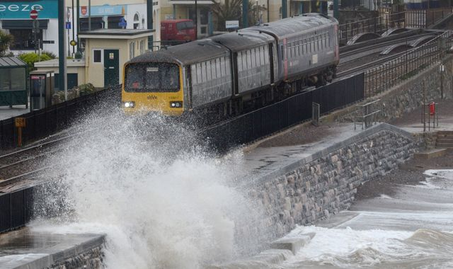 UK weather: Storm Gareth causes travel disruption with 80mph winds and heavy rain