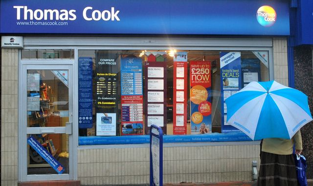 Thomas Cook to close 21 stores across UK