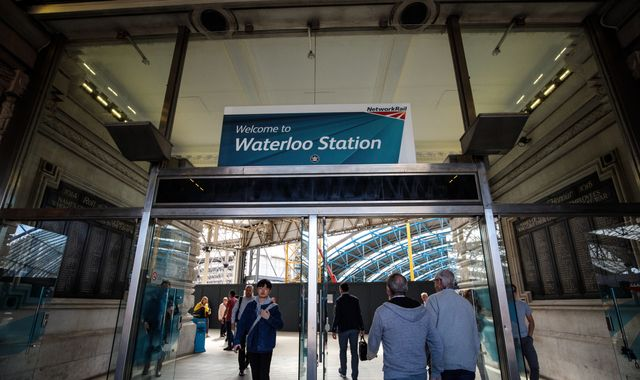 Commuter chaos as all trains to and from London Waterloo cancelled