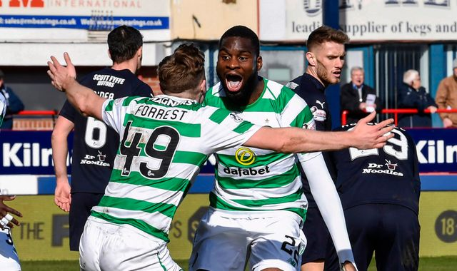 Dundee 0-1 Celtic: Odsonne Edouard hits last-gasp winner as Hoops move 10 points clear