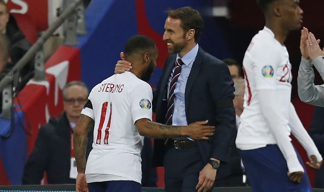 Raheem Sterling hailed as a 'role model' by Gareth Southgate after England hat-trick