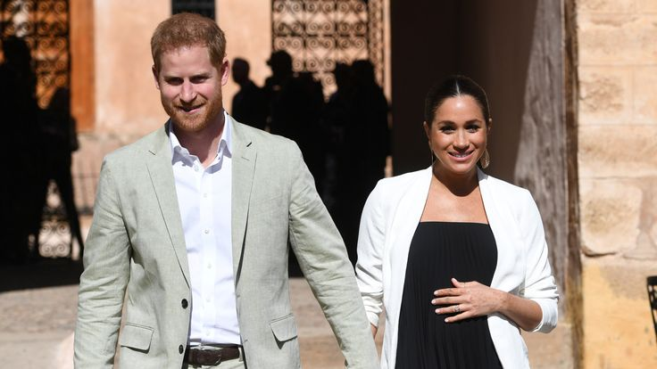 Britain's Meghan, Duchess of Sussex and Prince Harry the Duke of Sussex visit the Andalusian Gardens in Rabat, Morocco