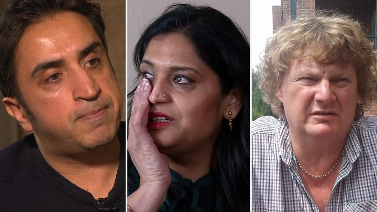 Seema Misra, Bavinder Gill and Gary Brown say they were wrongly penalised by the Post Office