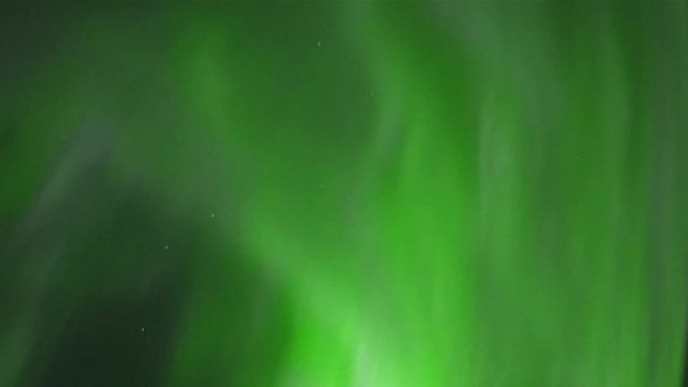 Spectacular northern lights in Lapland