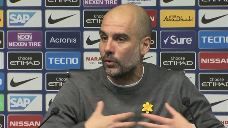 Guardiola: No pressure for Man City CL win