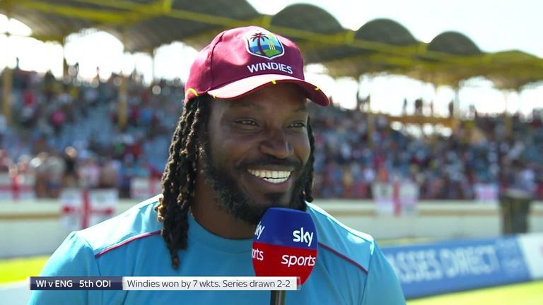Chris Gayle says his scintillating 77 from just 27 balls in the final ODI against England came with the 'wrong bat'!
