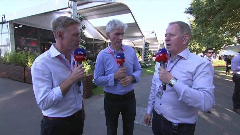 1:30                                            Sky Sports F1's Martin Brundle Paul Di Resta and Johnny Herbert gave their verdict on F1 2019's first day