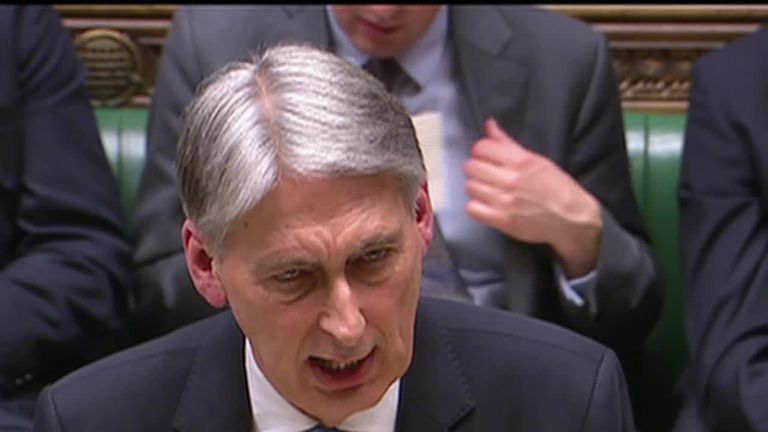 Philip Hammond delivers spring statement 13/3/2019
