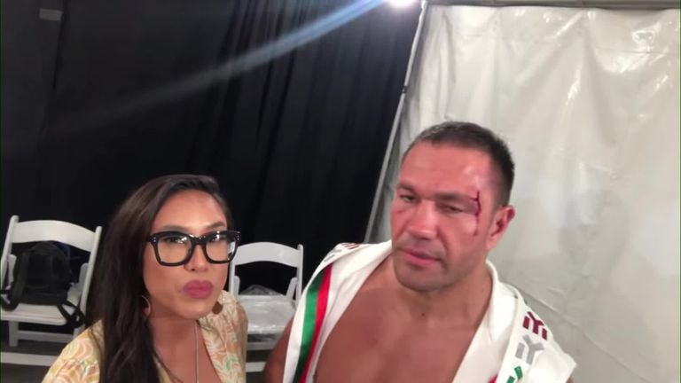 Kubrat Pulev defends kissing reporter, while bleeding after fight