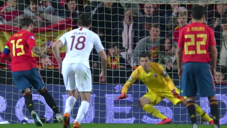 WATCH: Sergio Ramos scores Panenka penalty to secure Spain win over Norway | Football News |