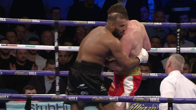 Heavyweight boxer disqualified after biting opponent during bout