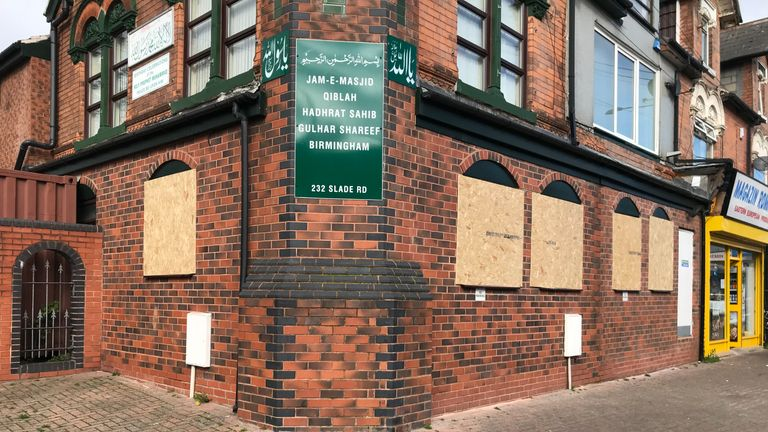 A place of worship in Slade Road, Erdington, was also attacked