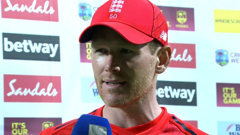 England captain Eoin Morgan was full of praise for his side after their 137-run victory over the Windies in the second T20