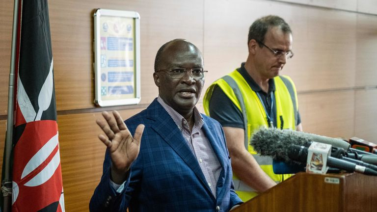 Kenya's transport minister James Macharia describes the disaster as a 'regrettable incident'