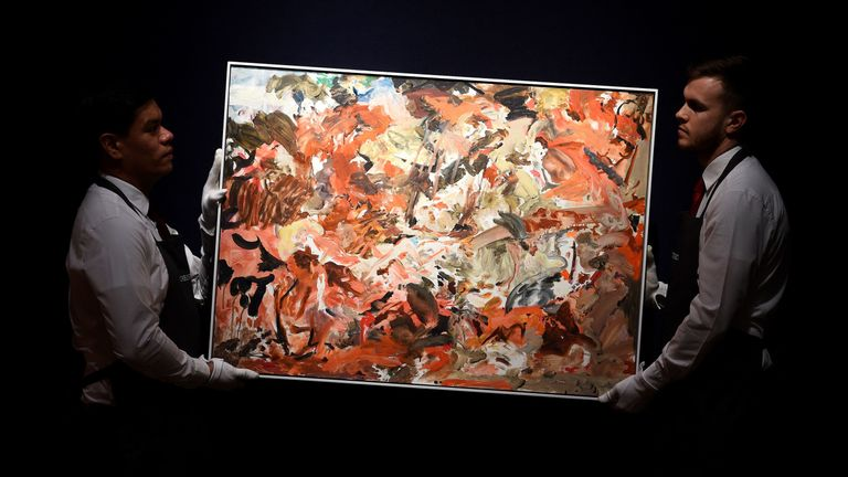 Yet to be titled by Cecily Brown
