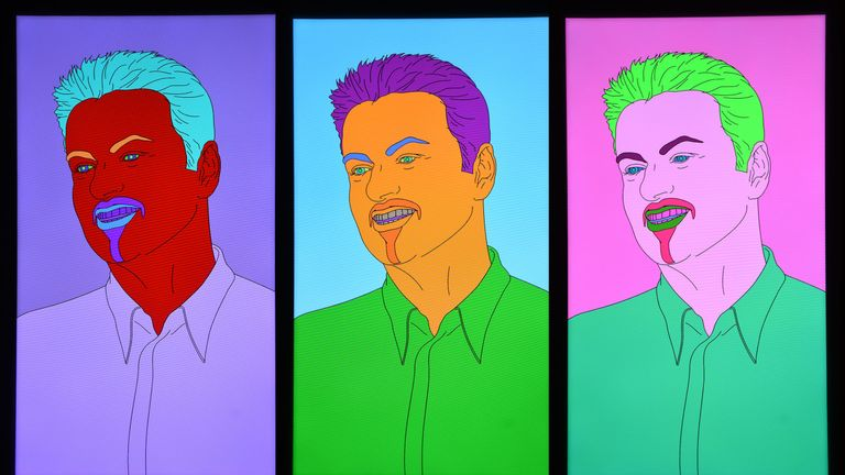 Commissioned Portrait Untitled (George) by Michael Craig-Martin