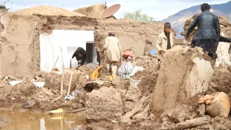 Heavy rains caused flash floods in western Afghanistan that killed at least 17 people.