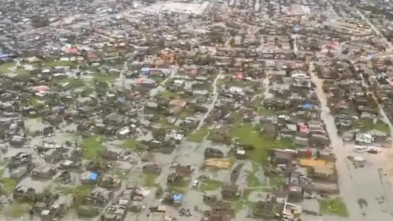 Aftermath of Cyclone Idai in Beira, Mozambique