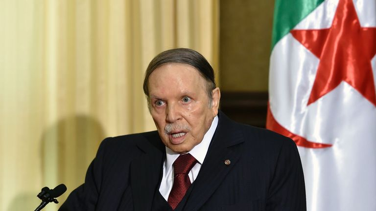 Algerian President Abdelaziz Bouteflika in 2016