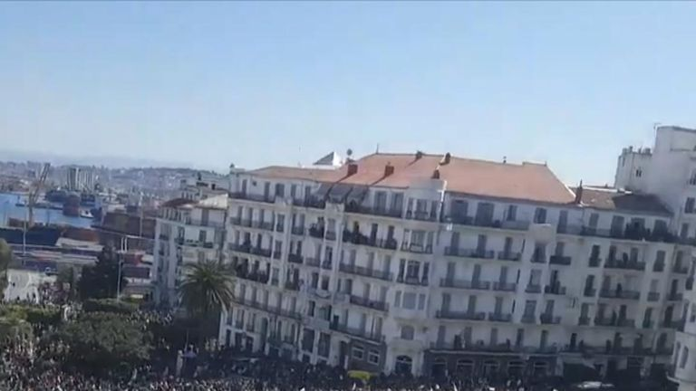 Democracy protests in Algiers, Algeria