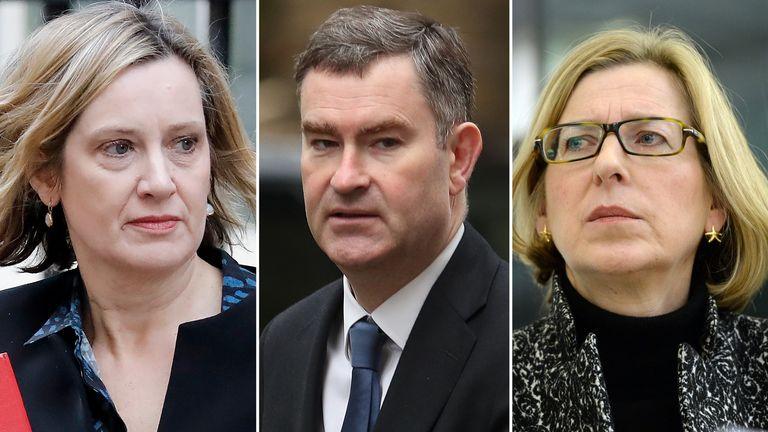 Amber Rudd, David Gauke and Sarah Newton defied Theresa May