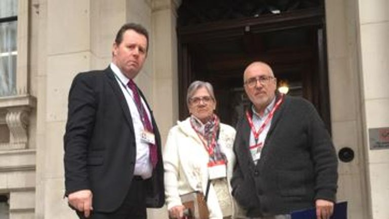 Mark Spencer MP (left) and Sue and Maurice Neal Pic Mark Spencer