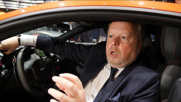 Aston Martin chief executive Andy Palmer at the Geneva motor show 5/3/2019